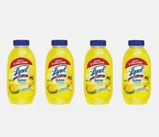 (4) Lysol Cleaner & Fresh Multi-Surface Disinfectant Lemon 10.75 oz Concentrate