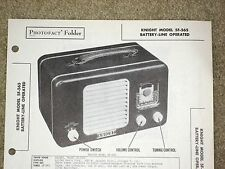 Sams Photofact 55-12; Knight Model 5F-565, For Battery/Line Operated Radio