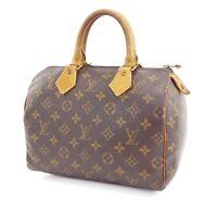 Authentic LOUIS VUITTON Speedy 25 Monogram Boston Hand Bag Purse #29673
