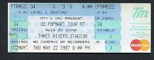 Original U2 1997 PopMart Tour 97 Unused Full Concert Ticket Pittsburgh Bono