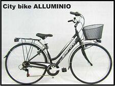 bici bicicletta da donna city bike trekking 28 telaio in ALLUMINIO vari colori