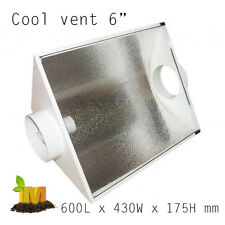 """Cool Vent 6"""" air cooled shade hood Grow Lights Hydroponic Grow Tent HPS MH Kit"""