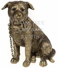 Staffordshire bull terrier statue bronze chien ornement chien memorial figurine new