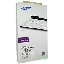 Samsung Full Size Keyboard Dock for Samsung Galaxy Tab 7.7 - White