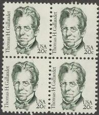 Scott # 1861 - Thomas Gallaudet - Block Of 4 - Mnh -1983