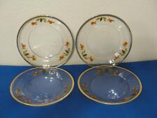 Jewel Tea Autumn Leaf Libbey Glass Set of 4 Salad/Dessert Plates