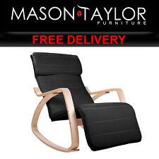 Mason Taylor Birch Plywood Adjustable Rocking Lounge ArmChair ARMCHAIR-10-BLACK
