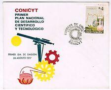 Chile 1977 FDC CONICYT Primer Plan de Desarrollo Cientifico y Tecnologico