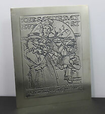 1972 International Sterling Norman Rockwell Saturday Evening Post Christmas Card