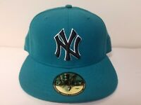 New Era 59Fifty MLB New York Yankees Mens Green Fitted Size 7 Cap Made in USA