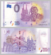 0 Euro Souvenirschein Pope John Paul II Jan Pawel II 100. Geburtstag 2020