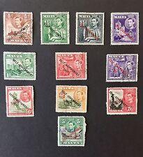 Malta George VI 1948 Self Government part set VFU