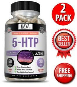 (2 Pack) 5-HTP 60Ct, Serotonin Sleep Stress Support, Supports Weight Loss, 5HTP