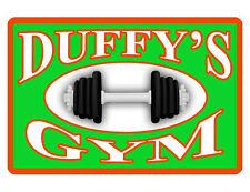 Personalized Gym Sign Your Name Barbell Custom Aluminum Durable Full Color G#076