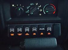 1997-2001 Jeep Cherokee XJ 7-Switch Bracket/ Plate / Panel Fits OEM, No Trimming