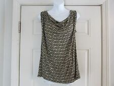 NWT Old Navy Women's Sleeveless Top Size L Brown & Ivory 100% Rayon