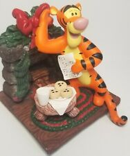 1998 Disney Pooh Stocking Hanger - Tigger Milk And Cookies Christmas