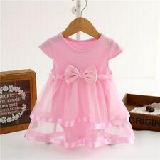 Baby Girls Infant Short Sleeve Tutu Dress Clothes Party Jumpsuit Princess Dress