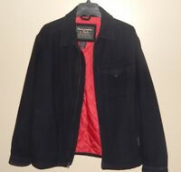 Men's Abercrombie and Fitch Wool Blend Coat Midnight Blue Sz M