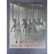 Prévert Jacques Bidermanas Izis Grand bal de printemps 1951 Edition originale Nu