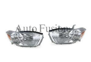 Headlights Pair Chrome For Toyota Kluger Gsu40 2007-2010