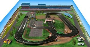 Slot Car Racetrack 2'x3' layout background-Printed on Canvas
