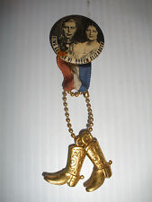King GEORGE VI Queen Elizabeth  CORONATION Royalty RIBBON Pinback  Pin