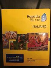 Rosetta Stone 1 2 & 3 V4 LEARN ITALIAN  SOFTWARE + DIGITAL DOWNLOAD+HEADSET