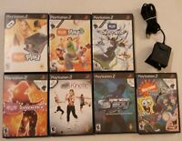 Playstation 2 PS2 Eye Toy Camera Lot w/7 Games Bundle Antigrav Play 1&2 Groove +