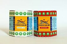 2 x 30g TIGER BALM PAIN RELIEF OINTMENT MASSAGE RED WHITE MUSCLE RUB ACHES