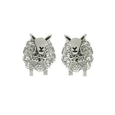 Handcrafted silver Cheviot sheep earrings..the perfect sheep gift for her
