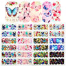 12Patterns Butterfly Water Decals Nail Art Transfer Stickers DIY Tips Decoration