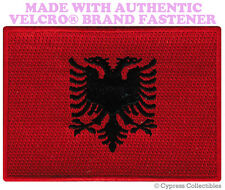 ALBANIA FLAG PATCH ALBANIAN EMBROIDERED SOUVENIR new w/ VELCRO® Brand Fastener