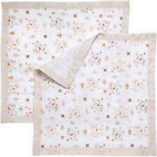 NWT Disney Baby Tan Beige White The Lion King Simba Muslin Security Blanket -2Pk