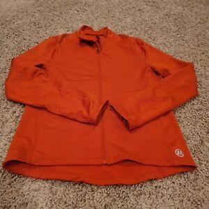 EUC Novara Cycling Jersey Mens Orange Full Zip Long Sleeve Fitted Large w Pocket