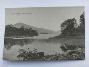 Luss Straits,Loch Lomond Scotland Vintage B&W Postcard c1920s