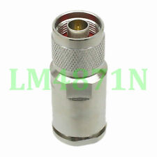 1pce Connector N male plug clamp LMR600 cable straight