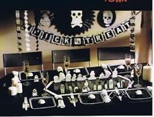 HALLOWEEN PARTY KIT ~ 24-PIECE BLACK & WHITE GRAVEYARD DECORATIONS ~ NEW