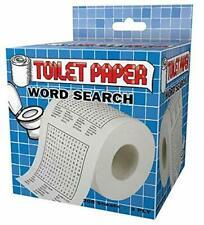 Word Search Design Toilet Paper Roll Tissue Novelty Gift