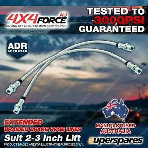 2 Rear Braided Extended LH + RH Brake Hoses Lines for Mazda BT50 UR 2.2 3.2L