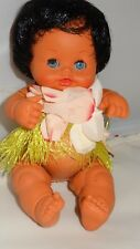 Vintage Forge Italy Grass Skirt Hula Baby Doll 18401