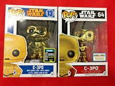C3PO Chrome POP! #13 Star Wars #64 Force SDCC Barnes Noble Exclusives FUNKO