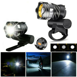 Bike Headlight Bright USB Rechargeable Bicycle Front Light 350LM with USB Cable