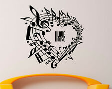 Music Wall Decal Vinyl Sticker Music Notes Treble Clef Interior Art Decor (15mu)
