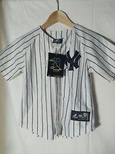 Majestic Derek Jeter New York Yankees Baseball Jersey Youth Sz. 7 White SEWN NEW