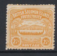 SOLOMON ISLANDS SG4, 2½D ORANGE - YELLOW MOUNTED MINT