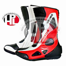 New Ducati desmo boots Motorcycle Racing leather motorbike ducati corse shoes