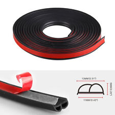 8M Big B-Shape Moulding Black Trim Rubber Strip Car Door Edge Seal Weather-strip
