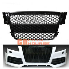 RS5 style Gloss Black Mesh Grill Front Grille for Audi A5 S5 RS5 8T 2008-2011