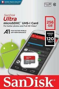 SanDisk 256GB Ultra microSD SDHC SDXC UHS-I Memory Card 120MB/s Full HD Class 10